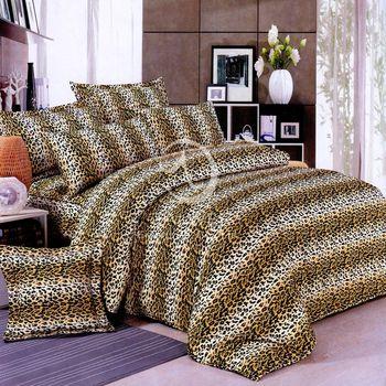 卡莎蘭 豹紋雄風 雙人四件式被套床包組