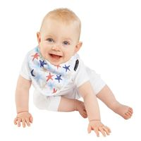 【Mum 2 Mum】雙面竹纖維棉機能口水巾圍兜-海星/藍條紋
