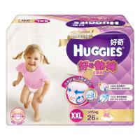 Huggies好奇尿布 白金級好動褲 女XXL(26片x2/箱)