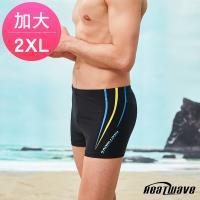 Heatwave熱浪 加大男泳褲 四角平口-海流線359