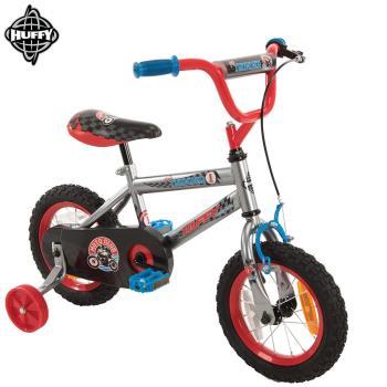 美國HUFFY-2017新款12吋男童自行車【銀色】,兒童腳踏車,輔助輪自行車