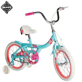 美國HUFFY-新款16吋女童自行車【Tiffany藍】,兒童腳踏車,輔助輪自行車