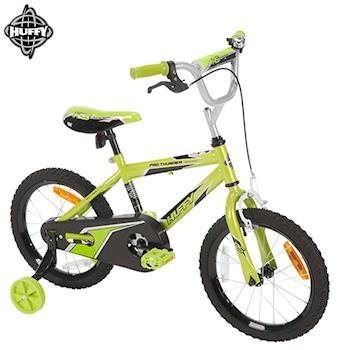 美國HUFFY-2017新款16吋男童自行車【綠色】,兒童腳踏車,輔助輪自行車