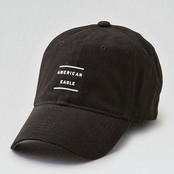 American Eagle 2017男時尚現代字母圖形刺繡黑色棒球帽(預購)