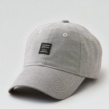 American Eagle 2017男時尚現代貼布款灰色棒球帽(預購)