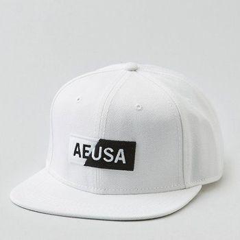 American Eagle 2017男時尚現代圖形貼布白色棒球帽(預購)