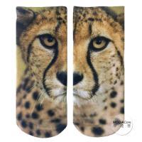 摩達客 美國進口Living Royal獵豹臉 短襪腳踝襪彈性襪動物圖案襪