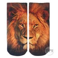 摩達客 美國進口Living Royal獅子臉 短襪腳踝襪彈性襪動物圖案襪