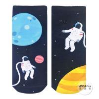 摩達客 美國進口Living Royal 太空人漫遊 短襪腳踝襪彈性襪圖案襪