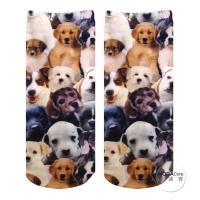 摩達客 美國進口Living Royal犬犬狗狗群 短襪腳踝襪彈性襪動物圖案襪