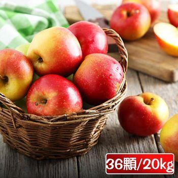 果之家 美國華盛頓榨汁富士蘋果36顆裝1箱(550±15g/顆)