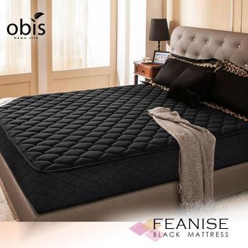 【obis】鑽黑系列-FEANISE二線獨立筒無毒床墊-雙人特大(6尺X7尺)