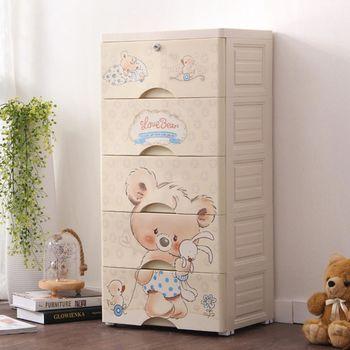 【Angus 玩傢俬】Baby小熊五層玩具衣物收納櫃-附鎖抽屜DIY
