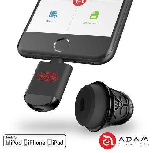 【亞果元素】DARTH VADER 星際大戰黑武士 iOS/microSD 雙介面讀卡機(含64GB記憶卡)