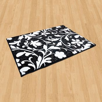【Ambience】比利時Palmas 絲光地毯 -花蔓 (68x110cm)