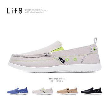 Life8-輕量。水洗帆布。率性樂福休閒鞋-09499-三色