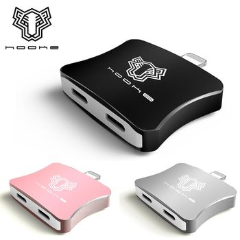 hooke APPLE iPhone7 Plus 轉 雙 Lightning 接口 轉接頭 可通話 聽音樂邊充電