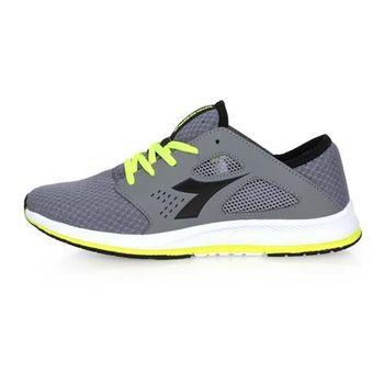 DIADORA 男潮流運動鞋 -慢跑 路跑 寬楦 灰螢光綠