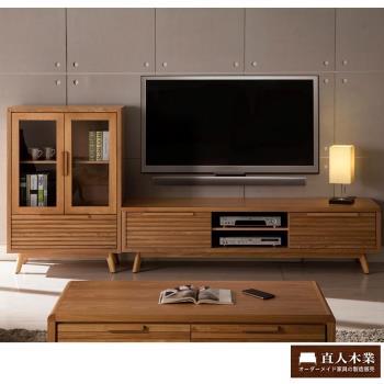 【日本直人木業】SMART簡約182CM電視櫃加展示櫃