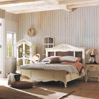 H&D 黛安娜6尺法式象牙白雙人床
