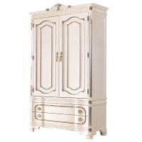 H&D 仙雅娜3.5尺法式象牙白銀邊衣櫃