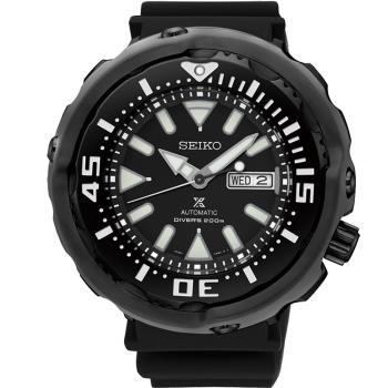 SEIKO PROSPEX (黑)鮪魚罐頭200米潛水錶 4R36-05S0SD SRPA81J1