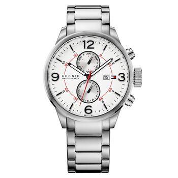 TOMMY HILFIGER 痞客幫紐約計時腕錶 銀 46mm M1790891