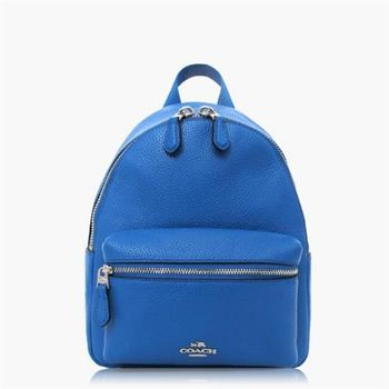 COACH 旅行必備 皮革 / 背包 / 後背包(迷你款) 藍色