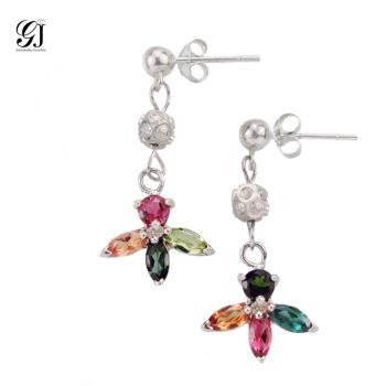 晉佳珠寶 Gemdealler Jewellery 天然彩色碧璽耳環 慈禧太后的最愛 珍貴寶石 高貴典雅 BE01
