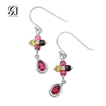 晉佳珠寶 Gemdealler Jewellery 天然彩色碧璽耳環慈禧太后的最愛 珍貴寶石高貴典雅 BE05