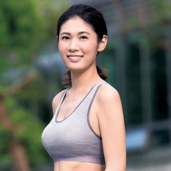 【華歌爾】TRAINING 系列五星有氧 D 罩杯 M-3L 運動胸罩 (活力灰)