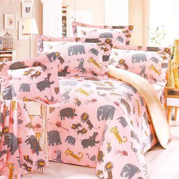 R.Q.POLO 日居的禮物系列 樂活草原 純棉涼被床包四件組 (雙人標準5尺)