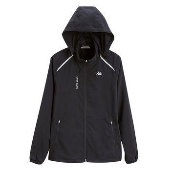 KAPPA義大利 女單層TEFLON風衣外套(可拆帽) 黑FC72-C849-8