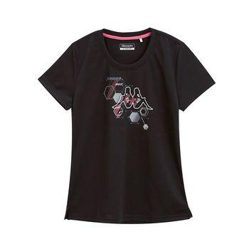 KAPPA義大利 時尚舒適女KOOL DRY吸濕排汗衫 黑 大紅FA72-F469-8
