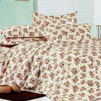 卡莎蘭 漫舞花海 雙人四件式二用被床包組