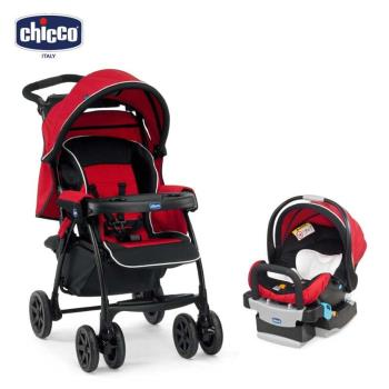 chicco-Duo Today手推車+KeyFit 手提汽座組(艷陽)