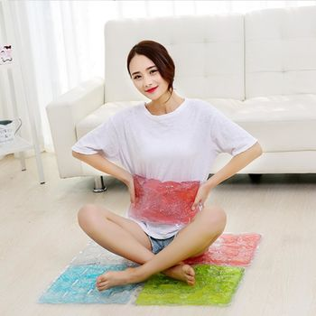 【Bunny】炫彩3D冰晶多功能降溫坐墊冰墊按摩冷熱敷墊