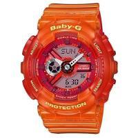 【CASIO】BABY-G 果凍漸層休閒錶-夕陽 (BA-110JM-4A)