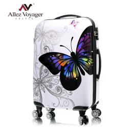 法國奧莉薇閣 28吋行李箱 PC輕量硬殼旅行箱 彩蝶飛舞II系列