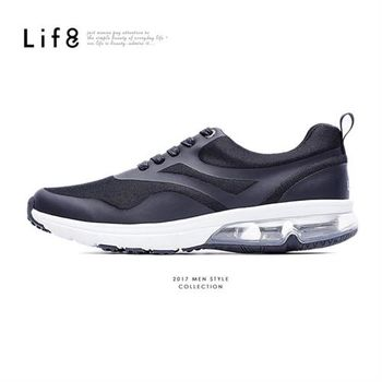 Life8-Sport 尼龍網布 TPU熱切 Air cushion運動鞋-09628-黑色