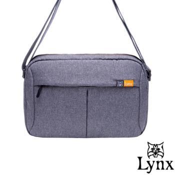 Lynx - 山貓質男防撥水休閒橫式側背包-共2色