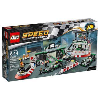 《 LEGO 樂高 》Speed Champions 系列 - 梅賽德斯·帕格羅納斯 F1 賽車隊 LT-75883