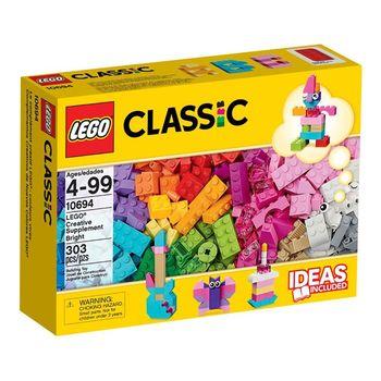 《 LEGO 樂高 》Classic 經典基本顆粒系列 - 創意桶亮彩版 / LT-10694