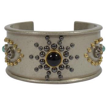COACH 58484 時尚配件 異國風金屬手環.灰