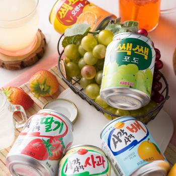 【Lotte】 樂天果汁系列 粒粒橘子汁/粒粒葡萄汁/蘋果汁/草莓汁/水梨汁238ml (12入/組)