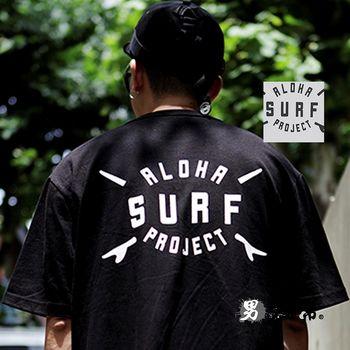【男人幫大尺碼】韓國簡單英文字母SURF純棉T恤(T1533)男裝加大尺碼