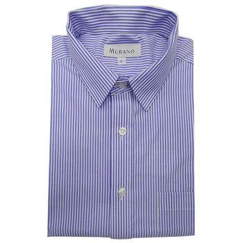[MURANO]白底藍條紋襯衫-藍色