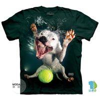 摩達客 美國進口The Mountain 水中鬥牛比特犬混血  純棉環保短袖T恤 預購