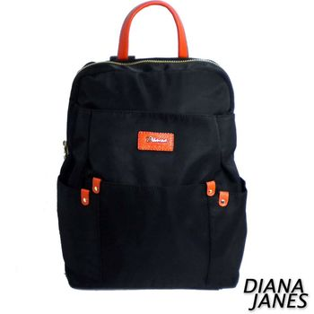 Diana Janes 尼龍帆布配皮粉搭兩用後背包