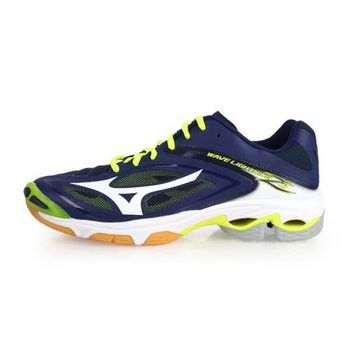 MIZUNO WAVE LIGHTNING Z3 男排球鞋-美津濃 深藍螢光黃